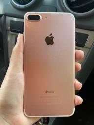 Iphone 7 plus 32gb rosê / troco