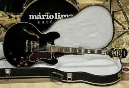 Guitarra Epiphone Sheraton II Black + Hard Case