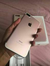 IPhone 128 GB 7 plus rose com nota e garantia