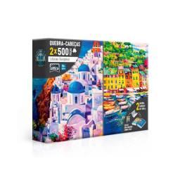 Quebra-Cabeça 500 peças Litorais Europeus - Toyster