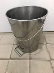 Balde industrial aço inox 25 litros
