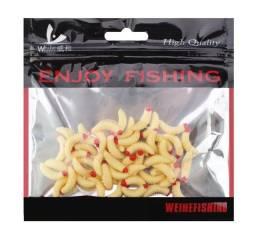 Isca de pesca macia soft minhoca 2cm/0.5g, 50 unidades