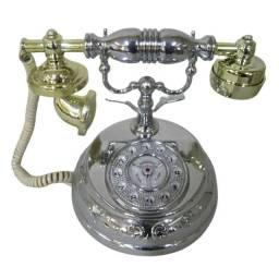 Telefone de Mesa Retro Vintage Antigo Decoração Raro Casa Telefonia Design Classico