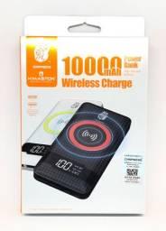 Carregador PowerBank Wirelless Sem fio Pineng / HMaston Pn-886 10000mah Usb Novo na Caixa