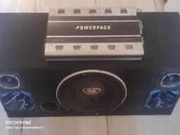 Vendo caixa de som + módulo powerpack pm 4938
