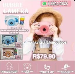 Câmera bubble ( solta bolhas de sabão)