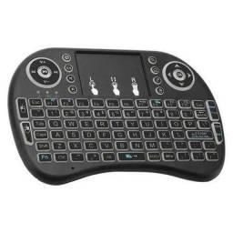 Mini Teclado Novo Sem Fio Bluetooth Acende as Teclas