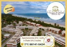 Praia da Pérola, apartamento 2/4, varanda- Ao som do mar-(60 X sem juros) Confira