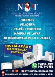 Elétrica em geral, refrigeração e máquina de lavar