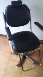 Cadeira para barbeiro cabelereira designer de sobrancelhas