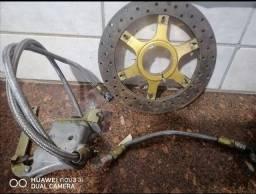 Freio para Kart com Disco ventilado cubo e cilindro