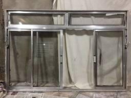 Janela de alumínio c/vidros