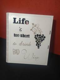 Caixa de Vinho MDF Branco