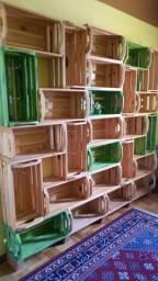 Lindas!!!Prateleiras em caixote de madeira (40 unidades)