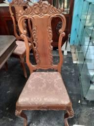 Jogo 4 cadeiras Imbuia Chipandelle R$ 2.200,00