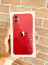 iPhone 11 64Gb Red / Vermeho ate 12x / Lacrado / garantia de 1 ano