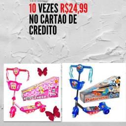 Título do anúncio: Patinete Infantil  10 vezes R$24,99 no cartão e no dinheiro vindo busca tem desconto