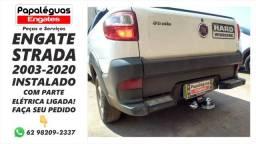 Título do anúncio: Engate Reboque carretinha Fiat Strada 2003-2020 instalado completo