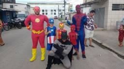 Personagens heróis festa infantil