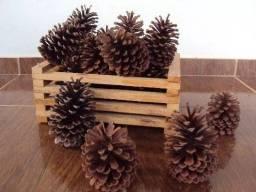 Pinhas Naturais Para Decoração Artesanato Enfeites Arranjos Guirlandas Natal