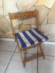 Cadeira Dobrável com acento de nylon
