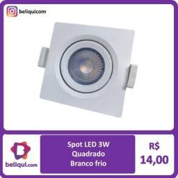 Título do anúncio: Spot LED Direcionável Quadrado 3W   Branco Frio e Branco Quente