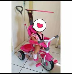 Título do anúncio: Triciclo rosa 3x1 com capota !