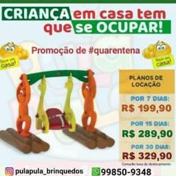Aluguel brinquedos de playground para a diversão dos pequeninos por 7, 15 ou 30 dias