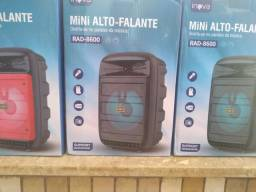 CAIXA DE SOM BLUETOOTH CARTÃO SD RÁDIO FM ENTRADA PARA MICROFONE
