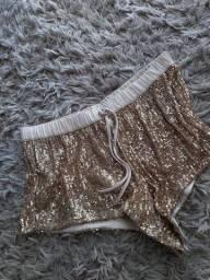 Short dourado Victoria's Secret