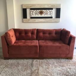 Sofá Luxo Italia - molas ensacadas no assento e estrutura madeira - Entrega Grátis em Fsa