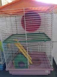 Gaiola completa com hamster fêmea