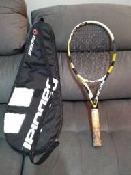 Raquete de tênis com case babolat (pro drive)