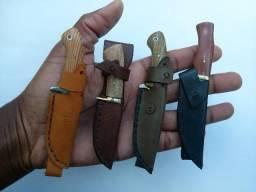Facas artesanais (aço carbono) em miniatura: totalmente feita à mão e pronta para uso