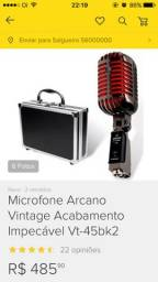 Microfone Vintage arcano Vt-45bk2