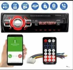Som automotivo USB E BLUETOOTH Micro SD rádio FM