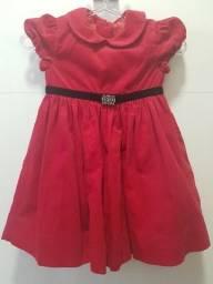 Vestido Infantil Vermelho Ralph Lauren