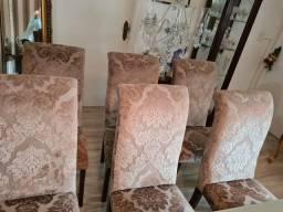 6 cadeiras em veludo