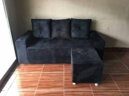 Sofá 3 lugares com almofadas novo