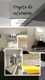 Projeto / Placas em 3D / Parede em Drywall/ Elétrica / Iluminação