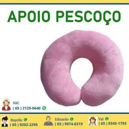 Almofada Macia de Pescoço Rosa Apoio Cabeça Descanso Roza