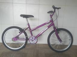 Bicicleta aro 20 nova violeta menina