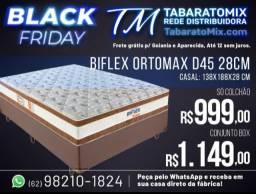 Black Friday! Conj. Casal Ortomax Biflex 28Cm Espuma D45! 12X Sem Juros,