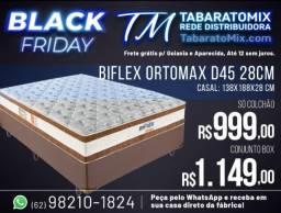 Prorrogação Black Friday! Conj. Casal Ortomax Biflex 28Cm Espuma D45! 12X Sem Juros