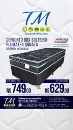 Conj. Solteiro Plumatex Sonata Black 26CM Molas Verticoil! , Apenas 749$!Frete Grátis
