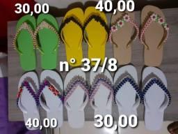 (Promoção) sandálias decoradas