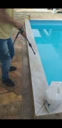 Limpeza de pisos e pedras naturais Áreas de piscinas mármore granito