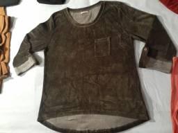 Blusa plush usada 2x veste 38 40