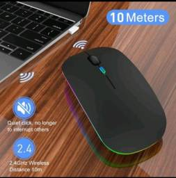 Título do anúncio: JTKE 2.4Ghz Wireless Mouse Optical LED Adjustable Silent Rechargeable Mouse With