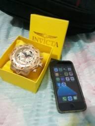 V/T iPhone SE 32gb e relógio invicta coringa